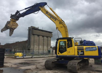 Sloop silo's Industriepark Kleefse Waard Arnhem