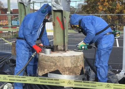 Asbest- en sloopwerkzaamheden langs het spoor