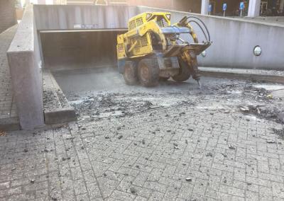 Verwijderen hellingbaan-verwarming parkeergarage RUG
