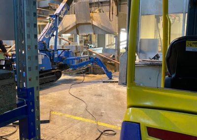 Machinte ontmanteling door Pongers Precisie Sloop bij Cirex Almelo