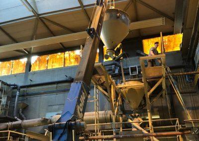 Machinte ontmanteling door Sloopbedrijf Pongers in Almelo bij Cirex
