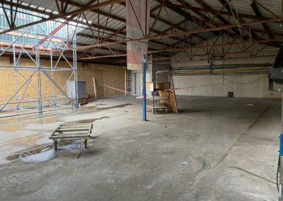Sloopwerkzaamheden bedrijfshal Timmerfabriek De Mors door Pongers Holten
